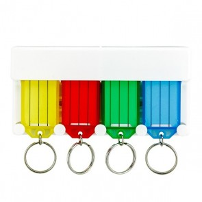 HINGED KEY TAG RACK - INC 4 TAGS
