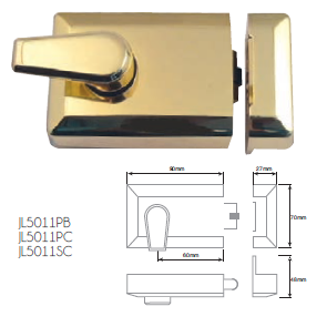 JEDO ROLLERBOLT NIGHTLATCHES