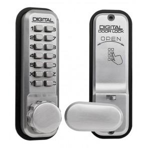 LOCKEY 2435/SC DIGITAL DOOR LOCK WITH HOLD BACK
