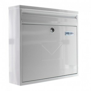 ROTTNER TERAMO POST BOX (WHITE / INOX)