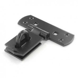 "SECURIT S1422 6"" VERTICAL HASP BLACK CARDED"