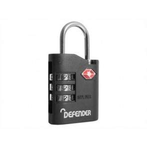 SQUIRE DEFENDER COMBI 35 TSA COMBINATION 35mm PADLOCK