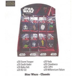STAR WARS CLASSIC PVC KEYRING DISPLAY