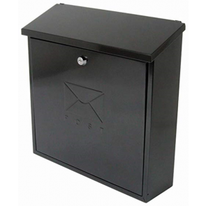 BURG WACHTER CONTEMPORARY POST BOX BLACK