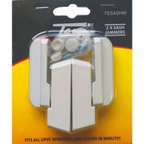 TESSI TESASHW NON LOCKING SASH JAMMER WHITE TWIN PACK