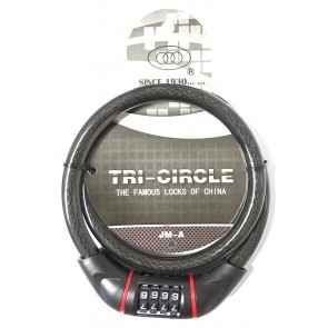 TRI CIRCLE JM-A 15MM X 900MM COMBI CABLE LOCK