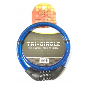 TRI CIRCLE JM-B 12MM X 900MM COMBI CABLE LOCK