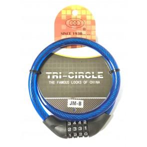 TRI CIRCLE JM-B 12MM X 900MM COMBI CABLE LOCK