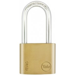 YALE ESSENTIAL 40MM LS PADLOCK BRASS YE1/40/152/1