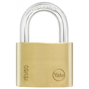 YALE ESSENTIAL 50MM PADLOCK BRASS YE1/50/126/1