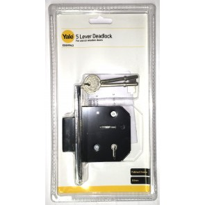 "YALE ESSENTIAL 5 LEVER DEADLOCK 2.5"" CHROME YES-5LDL-CH-64"