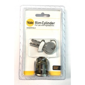 YALE ESSENTIAL RIM CYLINDER BRASS YES-RC-PB
