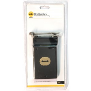 "YALE ESSENTIAL RIM DEADLOCK 4"" X 3"" BLACK YES-RD-BL"