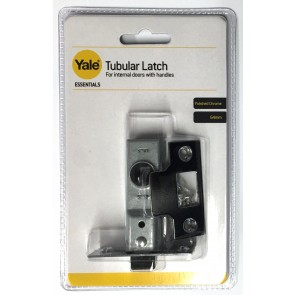 "YALE ESSENTIAL TUBULAR LATCH 2.5"" CHROME YES-TL-CH-64"