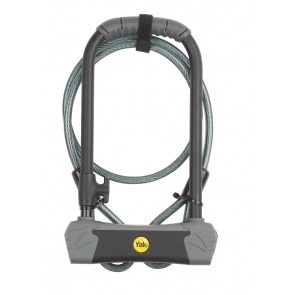 YALE YUL3C/14/230/1 BIKE D-LOCK WITH CABLE SOLD SECURE GOLD
