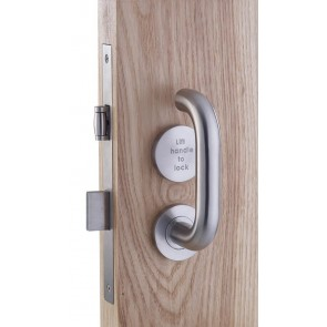 ZOO ZDL7260RLLSS (LIFT TO LOCK) BATHROOM LOCK COMPLETE