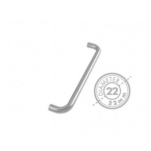 ZOO ZCS2D-CS RANGE 22MM ROUND BAR PULL HANDLE SS